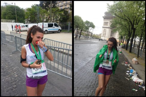 Tears of pain mixed with joy completing the Paris Marathon!
