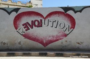 A wall in Kafranbel, Idlib, Syria